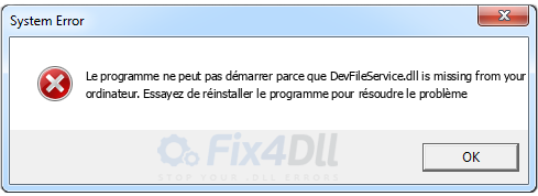 DevFileService.dll manquant